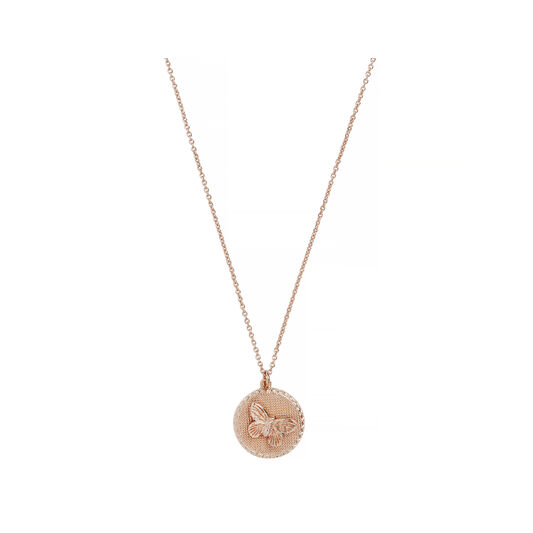 3D Butterfly Rose Gold Necklace