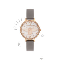 3D Bee Celestial Grey & Rose Gold Watch