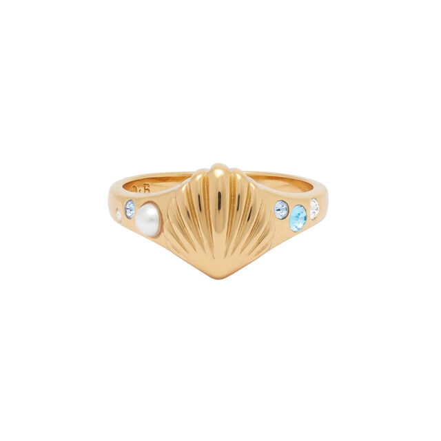 Under The Sea Gold Signet Ring