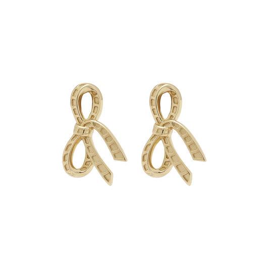 Bow Gold Stud Earrings