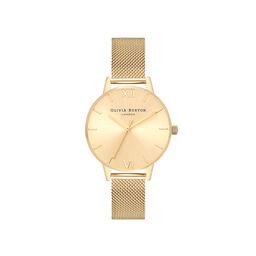 Sunray Gold Mesh Watch