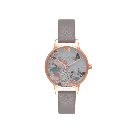 Signature Floral Grey & Rose Gold Watch