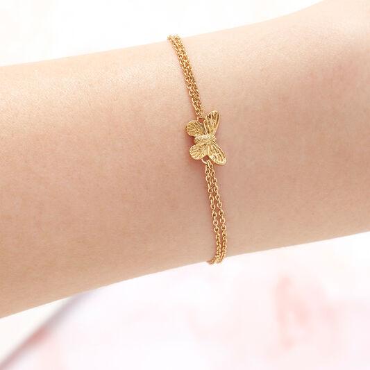3D Butterfly Gold Bracelet