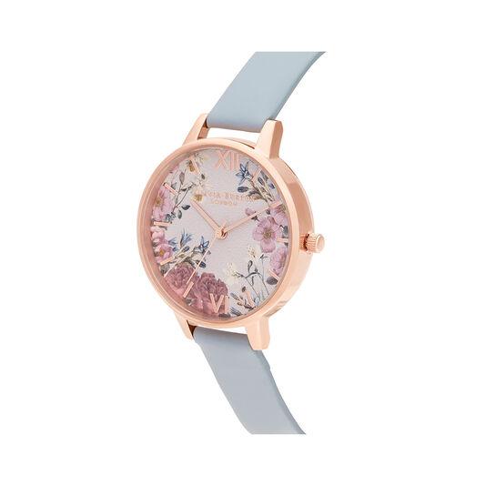 British Blooms Blue & Rose Gold Watch
