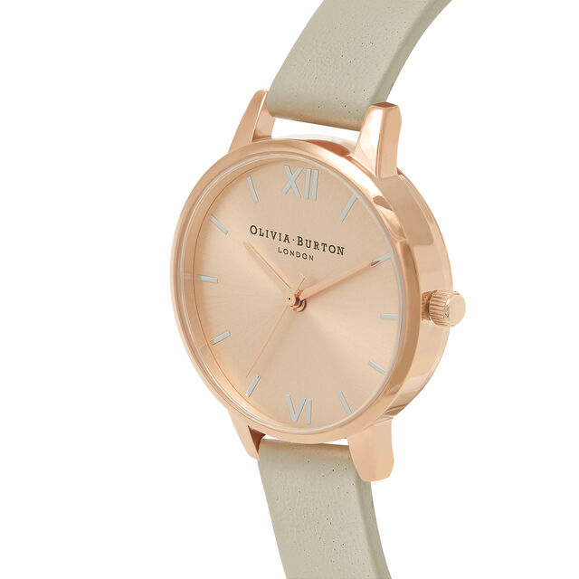 Midi Dial Pale Rose Gold, Silver & Grey Watch