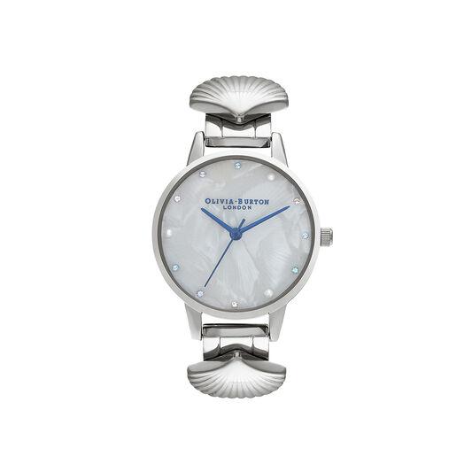 Mermaid Watch Silver & Blue