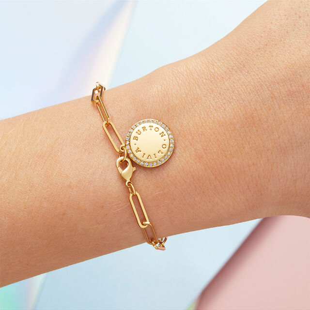 Bejewelled Classics Gold Chain Bracelet