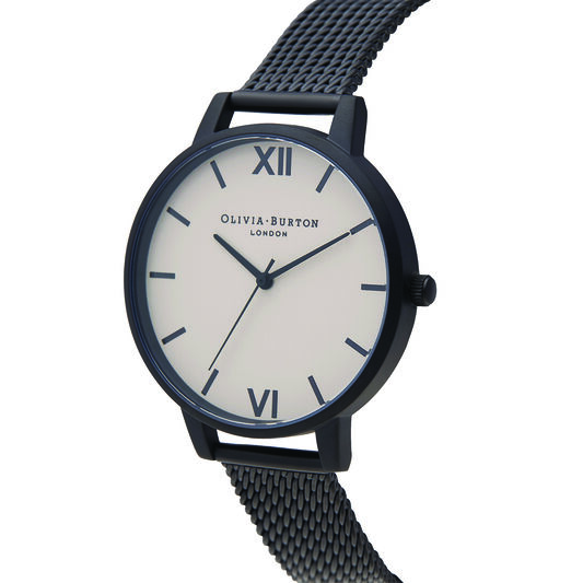 Shoreditch Classic, Greige Dial & Black Mesh