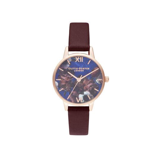 Midi Lapis Lazuli & Burgundy Watch