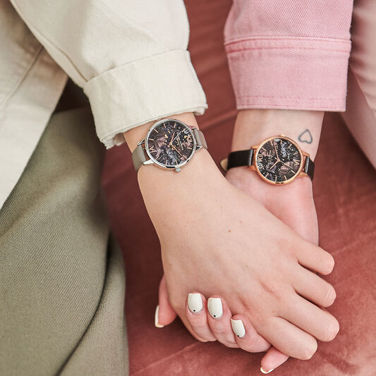 Celestial, Black & Rose Gold Watch