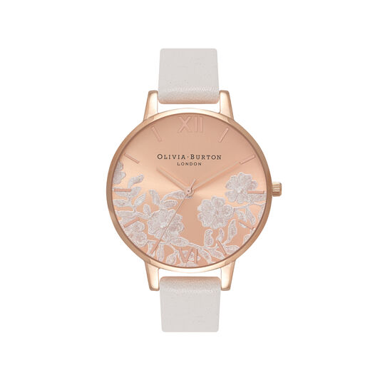 Lace Detail Blush & Rose Gold Watch