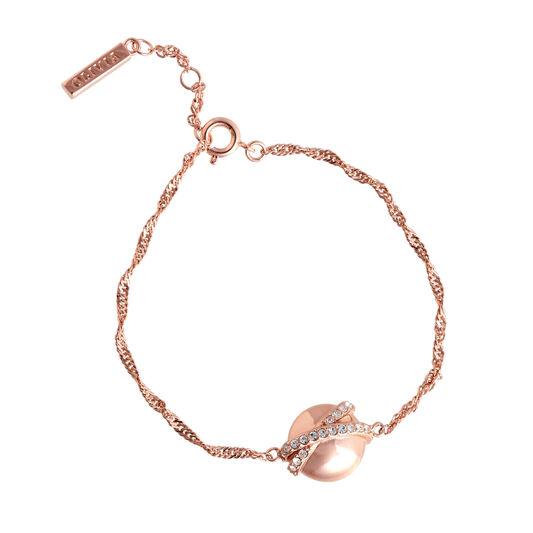 Bracelet chaîne Oversized Planet or rose