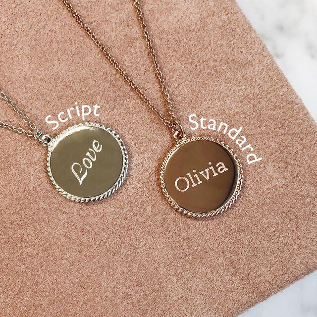 Engravables Disc Necklace Silver