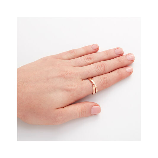 Classics Interlink Rose Gold Ring L
