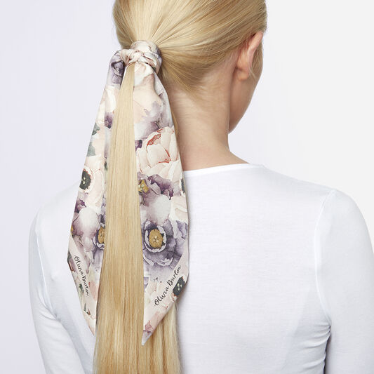 Watercolour Florals Skinny Scarf