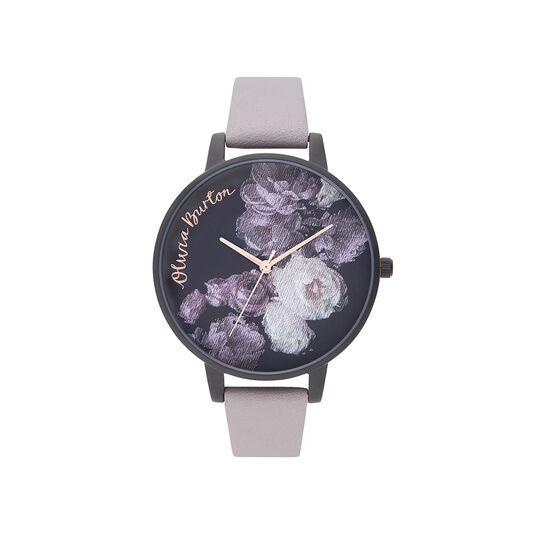Fine Art Lilas gris, or rose et noir mat