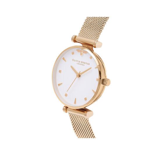 Queen Bee Gold Mesh Watch