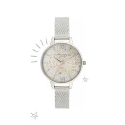 Celestial Demi Dial Watch with Boucle Mesh