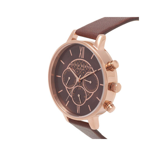 Chrono Detail Chocolate and Rose Gold Watch