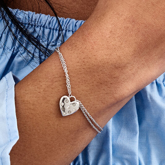 Classic Heart Silver Bracelet