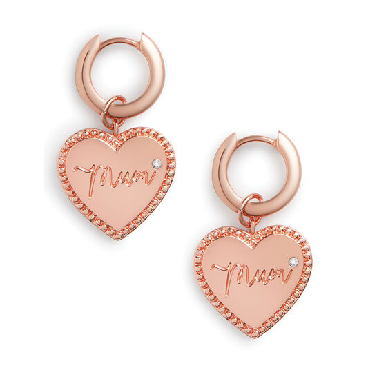 Made for Mum Huggie Hoops Rose Gold