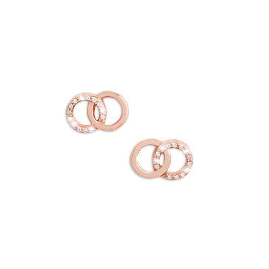 Bejewelled Interlink Earrings Rose Gold