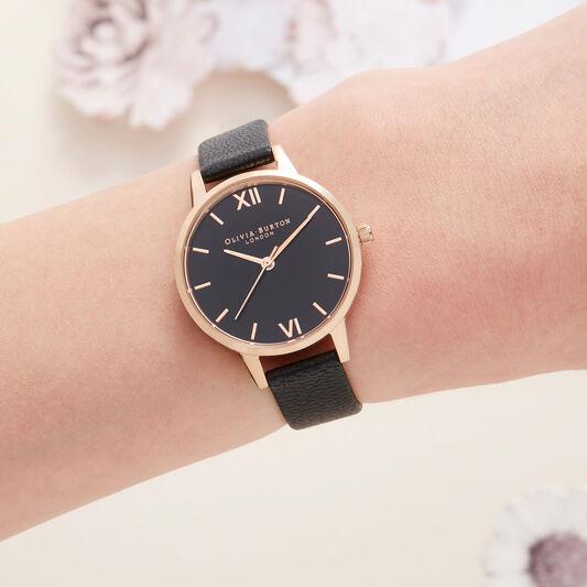 Black & Rose Gold Watch