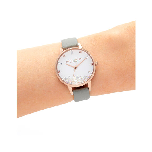 Wishing Watch Grey & Rose Gold Watch