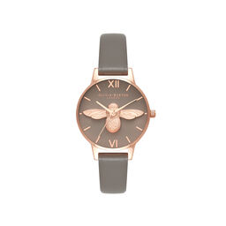 3D Bee Grey & Rose Gold Watch