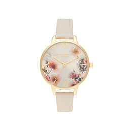 Sunlight Florals Vegan Nude & Gold Watch
