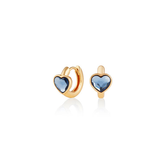 Heart Huggies Hoop Demin Blue & Gold