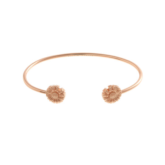 Daisy Open Ended Bangle Rose Gold