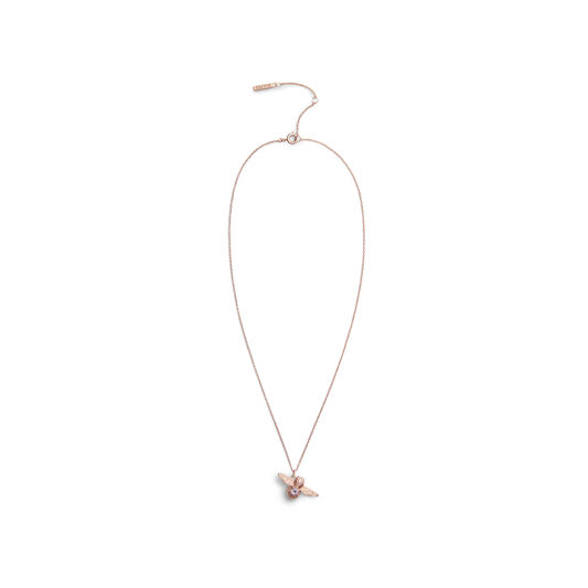 Bejewelled Bee Rose Gold & Amethyst Necklace