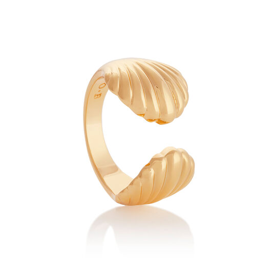 Double Shell Gold Ring