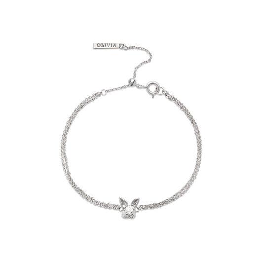 3D Bunny Silver Bracelet
