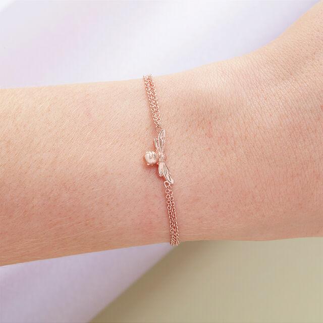 Lucky Bee Chain Bracelet Rose Gold
