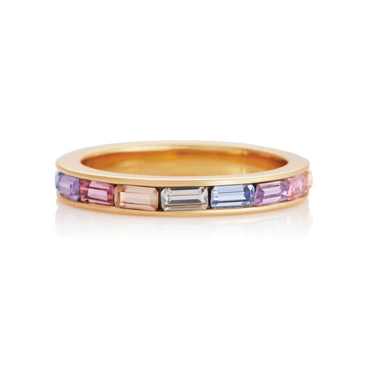 Rainbow Baguette Ring Gold (S)
