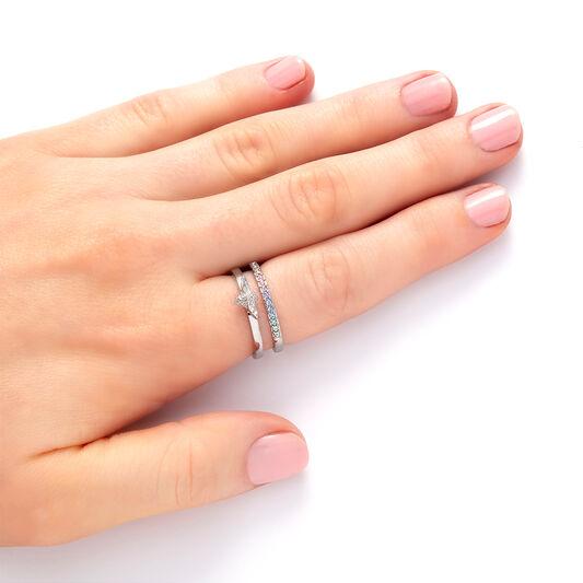 Rainbow Bee Ring Silver (M)