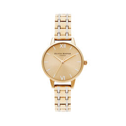Midi Dial Pale Gold & Silver Watch