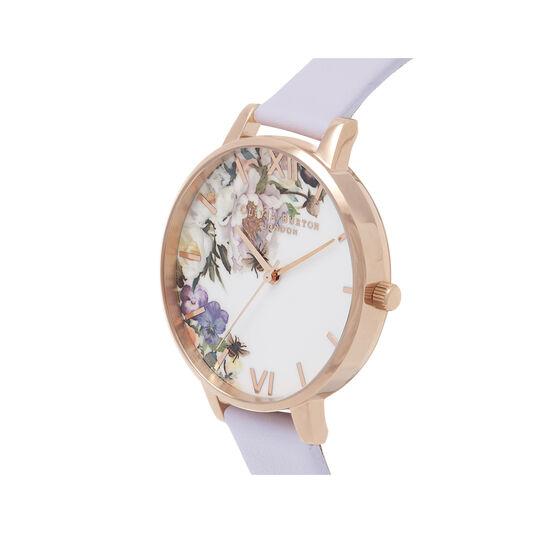 Enchanted Garden Violet & Rose Gold Watch