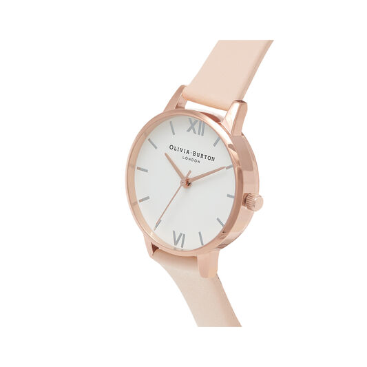 Midi Dial Nude Peach, Silver & Rose Gold Watch