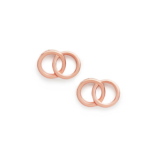 Classics Interlink Rose Gold Earrings