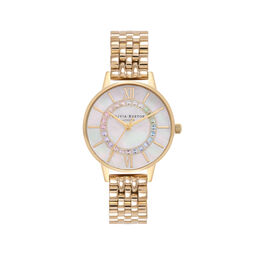 Rainbow Sparkle Wonderland Gold Bracelet Watch