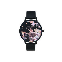 Shoreditch Marble Florals, Rose Gold & Matte Black