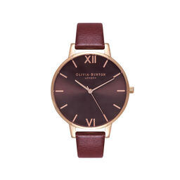 Burgundy & Rose Gold Watch