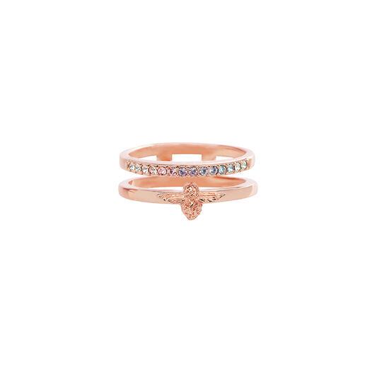 Rainbow Bee Ring Rose Gold (S)