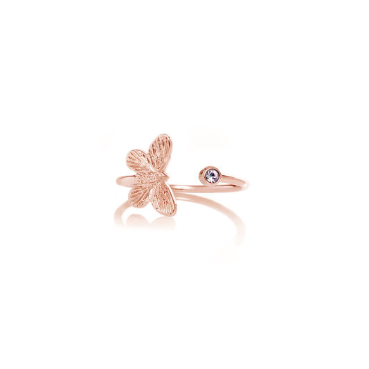 Bejewelled Butterfly Rose Gold & Tanzanite