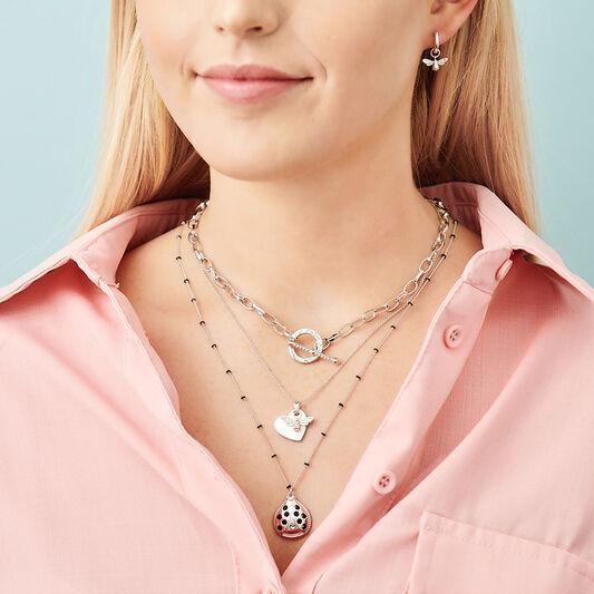 Ladybird Necklace silver