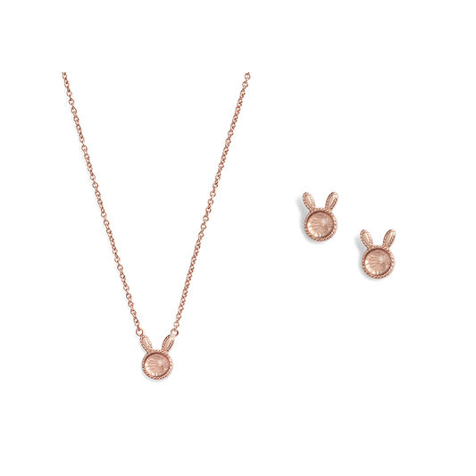 Bunny Gift Set Rose Gold & Rose Quartz