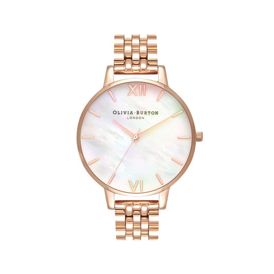 Mother of Pearl Rose Gold Bracelet Watch